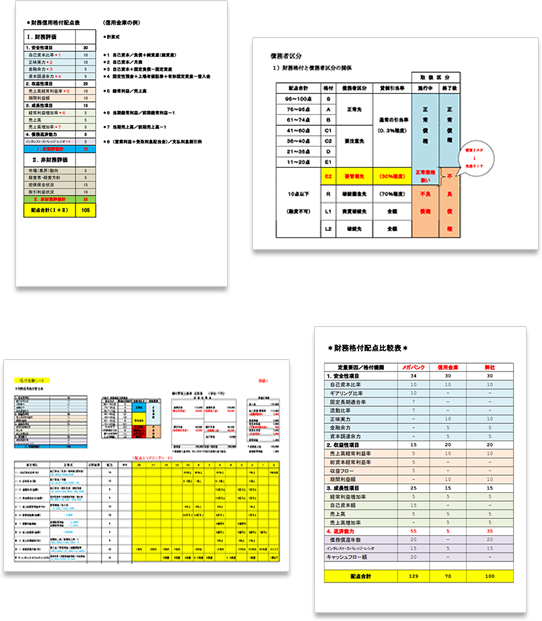 財務格付けチェック表